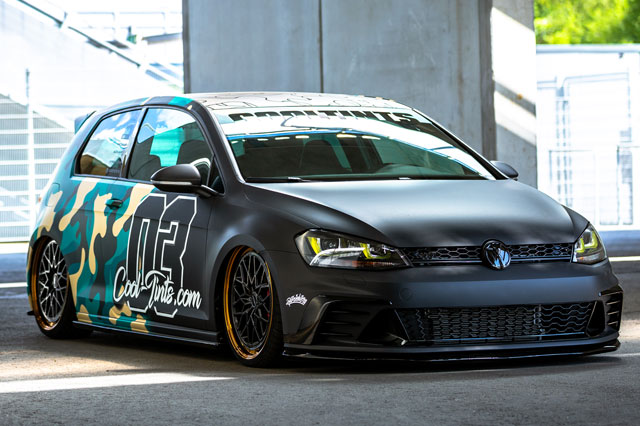 VW Golf VII GTI Clubsport mit Felgen von Messer Wheels